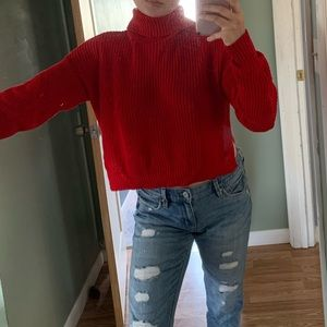 Forever 21 Red Turtle Neck Sweater